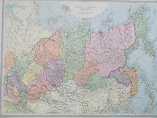Map of Siberia & Central Asia. 1905. RUSSIA. LAKE BAIKAL. Original