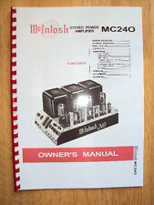 McIntosh 240 Amplifier  Bedienungsanleitung Owner Manual + Circuit Diagram
