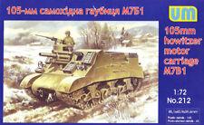 Unimodel 1/72 M7B1 105mm Howitzer Motor Carriage # 212