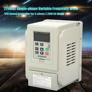 2.2KW 3hp 220v Variable Frequency Drive Inverter CNC VFD VSD Single To 3 Phase