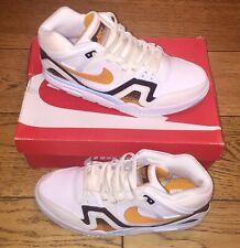 BNWB RARE NIKE AIR TECH CHALLENGE II ANDRE AGASSI UK 9.5 WHITE KUMQUAT BLACK