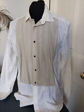 """LANVIN H&M Shirt 2010 16.5"""" Collar LARGE Evening Grey shirt front"""