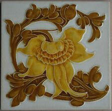 ANTIQUE PILKINGTON'S ENGLAND - ART NOUVEAU MAJOLICA TILE C1900
