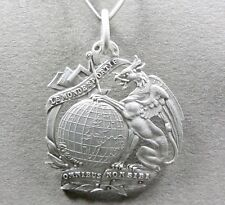 French, Large Silver Medal. Griffin & Globe. Equerre, Compass. Masonic Pendant ?