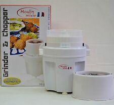 Moulin Wet and Dry Chutney Grinder New small fun white Meat Coffee Spices & MORE