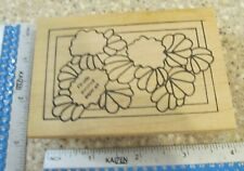 Mini Geraniums Mw Rubber Stamp-Make An Impression