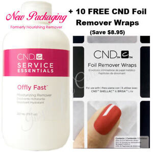 CND Shellac OFFLY FAST (was Nourishing Remover) +10 FREE Foil Wraps ●Save $8.95●
