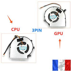Ventilateur de CPU / GPU Fan Pour MSI GE62 GL62 GP62 Series 3PIN