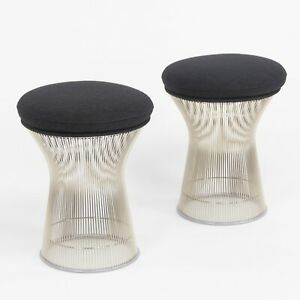 2020 Warren Platner for Knoll International Platner Stool w/ Classic Boucle Seat