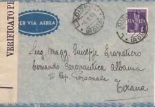 327 - POSTA AEREA -Busta senza testo del 1941 da Ladispoli a Tirana (Albania)