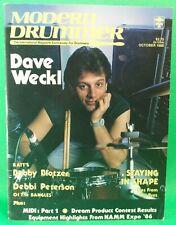 Modern Drummer October 1986 Dave Weckl Blotzer NO LABELS BRAND NEW! from Archive