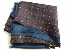 Men's VINTAGE SILK SCARF Retro Patterned Cravat Italy 100% Silk