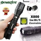 Tactical 5 modes CREE T6 12000LM Zoomable 18650/AAA Outdoor LED Flashlight  Lamp