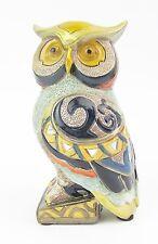 Owl Figurine Statue Multi coloured Gold Mirror highlights  12cm High