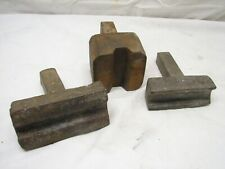 3 Blacksmith Hand Forged Stump Stake Anvil Hardy Swage Forming Tools Rod Stock