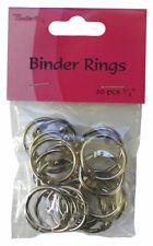 "CRAFTS TOO Pack of 20 BINDER RINGS 3/4"" BR34"