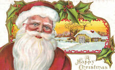 Vintage Santa Claus Postcard,Embossed,Santa,A Happy Christmas,Used,c.1909