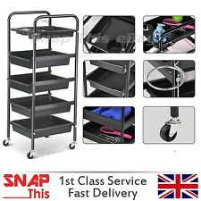 Salon Hairdresser Barber Beauty Storage Trolley Hair Drawers Cart Spa Colouring
