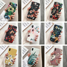 Para IPHONE 11 pro XS Max XR X 8 7 Plus 6S Retro Flor Mate Silicona Imd Funda