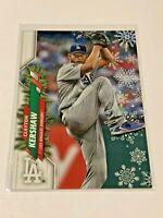 2020 Topps Walmart Holiday Baseball HW82 - Clayton Kershaw - Los Angeles Dodgers