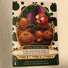 Disney Sorcerers Magic Kingdom card SOTMK Halloween 2018 Orange Bird MNSSHP WDW