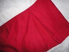 "Woolrich Crimson Red Chino Country King Bedskirt 15"" Split Corner"