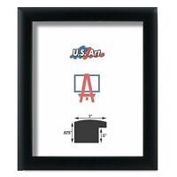 "US ART Frames 1"" Black Nugget Satin Real Poplar Wood Picture Poster Frame S-9"""
