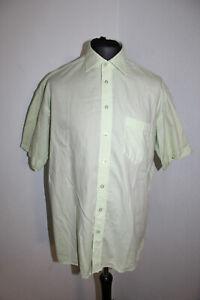 PURE Herren Hemd kurzarm Größe L / 41 hellgrün (A2/375)