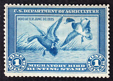 US RW1 $1 Duck Hunting Mint F-VF appr OG NH SCV $725