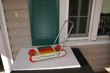 Vintage Playskool  Rolling Block Cart Rare Rare !! Complete !!!