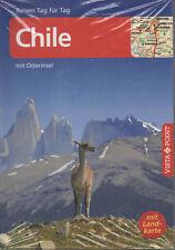 Chile mit Osterinsel Reisen Tag für Tag Vista Point TASCHENBUCH NEU + Landkarte
