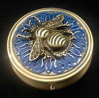 Bumblebee Pill Box, Pill Boxes,Travel Pill Case, Bee Pill Case, Honeybee gift