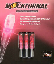 Nockturnal Lighted Arrow Nock S Model 3/Pk Pink