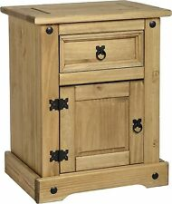 Corona 1 Drawer Bedside Cabinet - Mexican Pine Bedroom Furniture