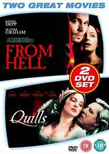 From Hell starring Johnny Depp & Quills starring Geoffrey Rush / 2 Disc DVD