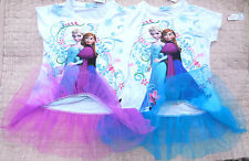 BNWT UK Girls Disney Frozen ELSA~ANNA Summer Tutu Top 2-5yr Tunic Dress/Costume