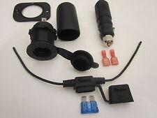 Marine Motorcycle Accessory Socket Power Outlet 12 V Locking Plug, Inline Fuse