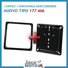 CORNICE + PORTARGA EUROPEO 177 mm. IN FERRO NERO per VESPA, MOTO e SCOOTER