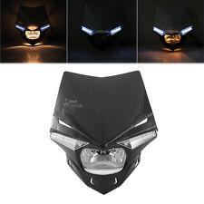 Black UFO Enduro Headlight Fairing For Sherco 50cc Enduro SHARK Supermotard AM6