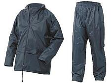 Lightweight Waterproof Rain Jacket & Trousers Navy Nylon size Medium