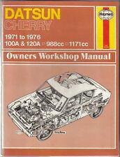 Datsun Cherry 100A & 120A 1971-1976 988cc & 1171cc Haynes Workshop Manual 1980