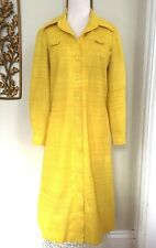 Vintage Verona 70's Yellow Polyester Dress 6-8