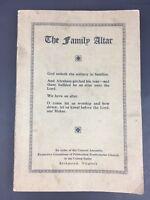 VTG Family Altar Religious Book Presbyterian Church Scripture Richmond VA 1940's