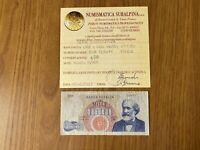 BANCONOTA LIRE 1000 VERDI 1º TIPO 1964 SERIE SOSTITUTIVA Z MOLTO RARA qBB
