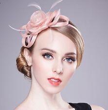 Pink Sinamay Loop Flower Spring Racing Wedding Fascinator Hatinator Headband
