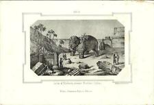 Stampa antica BOMBAY MUMBAI India 1857 Old antique Print एंटीक प्रिंट