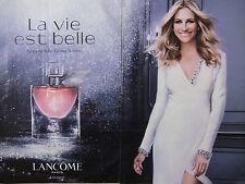 PUBLICITÉ DE PRESSE - LA VIE EST BELLE EAU DE PARFUM LANCÔME - Julia ROBERTS