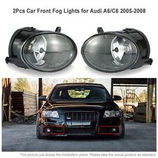Pair Car Front Fog Lights LED Lamp for Audi A6 C6 2005-2008 4F0941700 12V ABS
