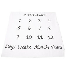 Creative Swaddle Newborn Blanket Monthly Milestone Baby Photography Props Q5Z6