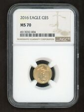 2016 Gold Eagle G$5 St Gaudens 1/10oz Coin NGC MS70